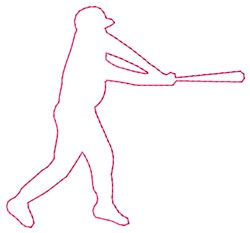 Batter Outline embroidery design