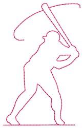 Batter Man embroidery design
