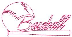 Baseball Bat embroidery design