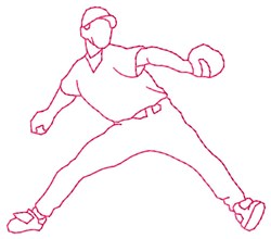 Fielder Pitcher embroidery design