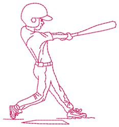 Batter Aim embroidery design