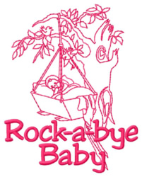 Rockabye Baby embroidery design