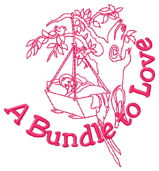 A Bundle to Love embroidery design