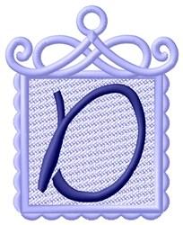 FSL Ornament D embroidery design