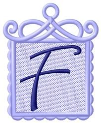 FSL Ornament F embroidery design