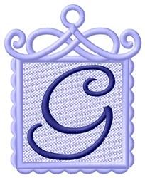 FSL Ornament G embroidery design