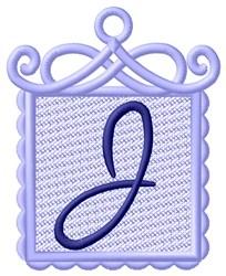 FSL Ornament J embroidery design