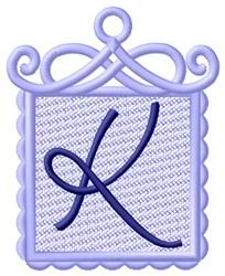 FSL Ornament K embroidery design