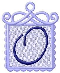 FSL Ornament O embroidery design