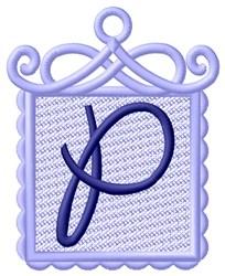 FSL Ornament P embroidery design