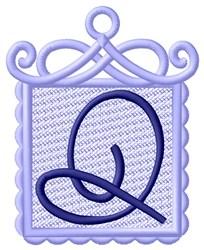 FSL Ornament Q embroidery design