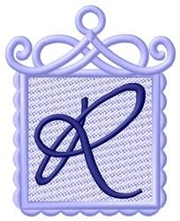 FSL Ornament R embroidery design
