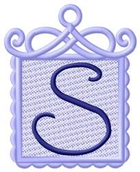 FSL Ornament S embroidery design