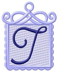 FSL Ornament T embroidery design