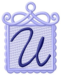 FSL Ornament U embroidery design