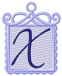 FSL Ornament X embroidery design