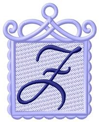 FSL Ornament Z embroidery design