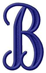 Vine Monogram B embroidery design