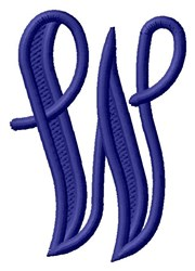 Vine Monogram W embroidery design