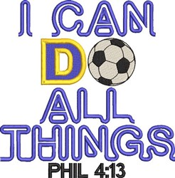All Things Soccer embroidery design