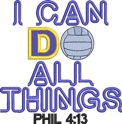 All Things Volleyball embroidery design