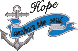 Hope Anchors Soul Applique embroidery design