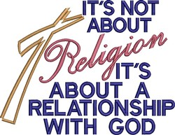 Not About Religion embroidery design
