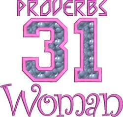 Proverbs 31 Woman embroidery design