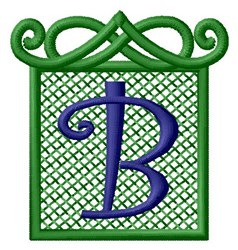 Embossed Square B embroidery design