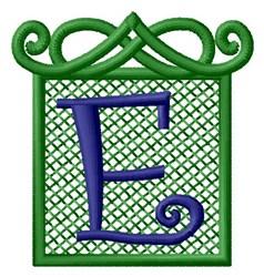 Embossed Square E embroidery design