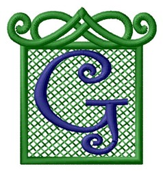 Embossed Square G embroidery design