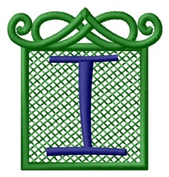 Embossed Square I embroidery design
