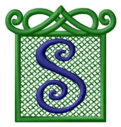 Embossed Square S embroidery design