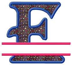Split Applique E embroidery design