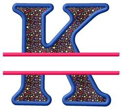Split Applique K embroidery design