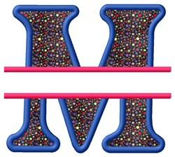 Split Applique M embroidery design
