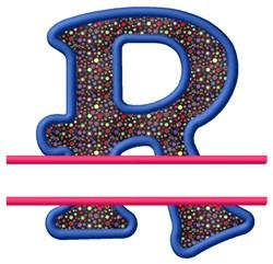 Split Applique R embroidery design