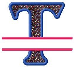 Split Applique T embroidery design