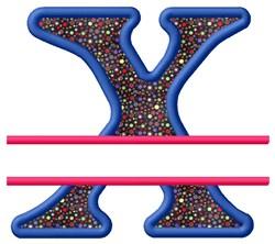 Split Applique X embroidery design