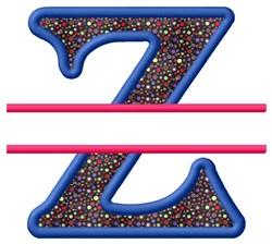 Split Applique Z embroidery design