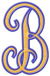 Tall Script 2 B embroidery design