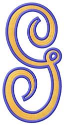 Tall Script 2 G embroidery design