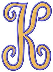Tall Script 2 K embroidery design