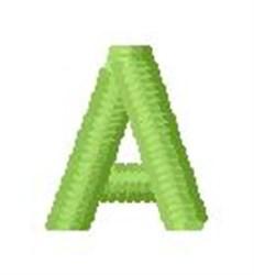 Tree Block Alphabet A embroidery design