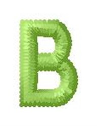 Tree Block Alphabet B embroidery design