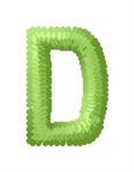 Tree Block Alphabet D embroidery design
