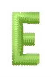 Tree Block Alphabet E embroidery design