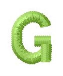 Tree Block Alphabet G embroidery design