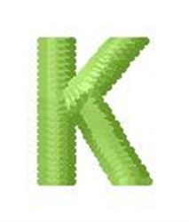 Tree Block Alphabet K embroidery design