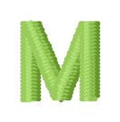 Tree Block Alphabet M embroidery design